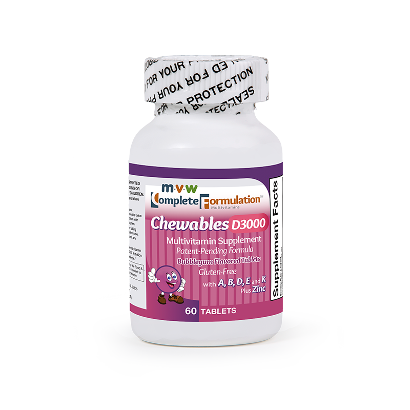 MVW Complete Formulation D3000 Chewables: Bubblegum – Step 1 Increase