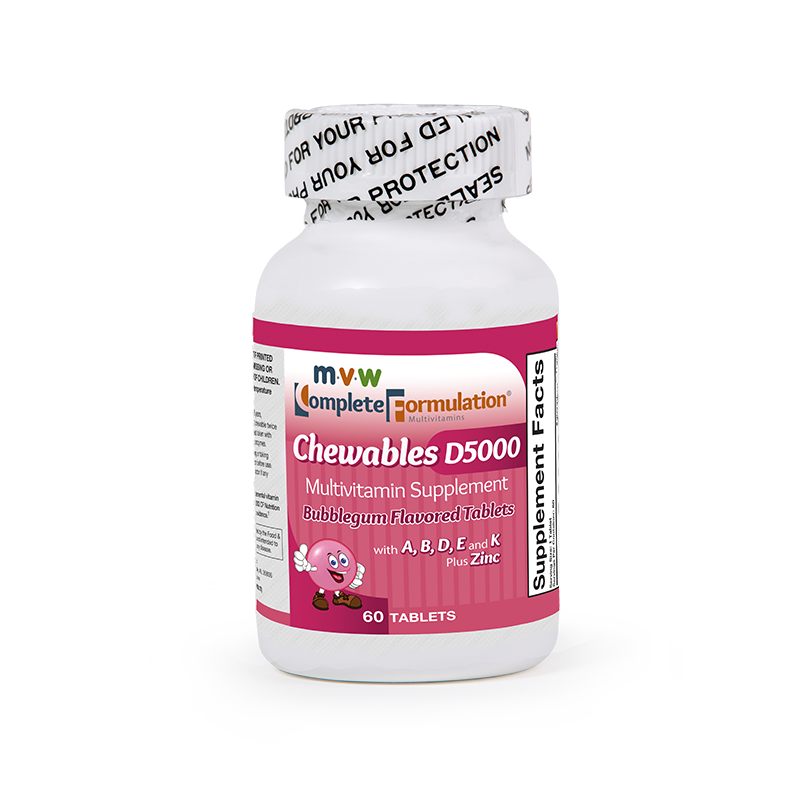 MVW Complete Formulation D5000 Chewables: Bubblegum – Step 2 Increase